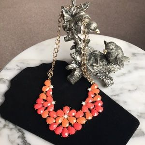 Francesca's Floral Statement Necklace